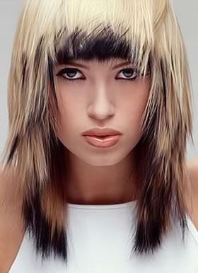 Средняя длина густых волос
