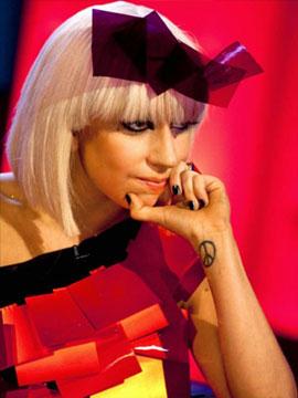 Черные ногти Леди Гага