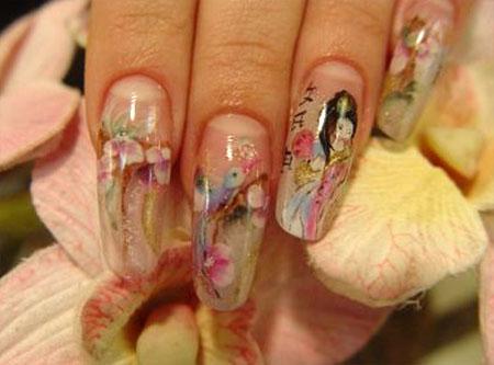 аквариумный дизайн ногтей: