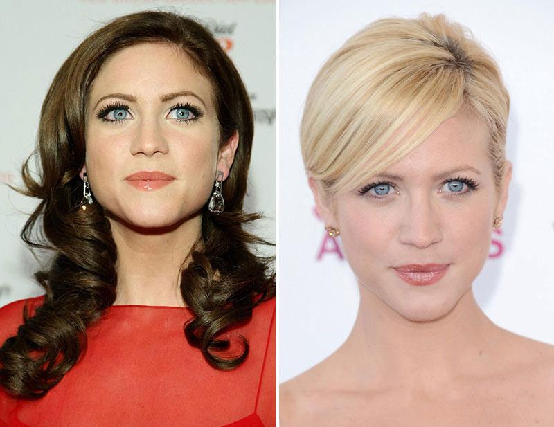фото из шатенки в блондинку до и после