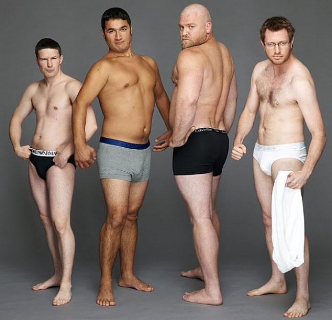 Мужчины как они есть: Мужское нижнее белье рекламируют «чайники»!