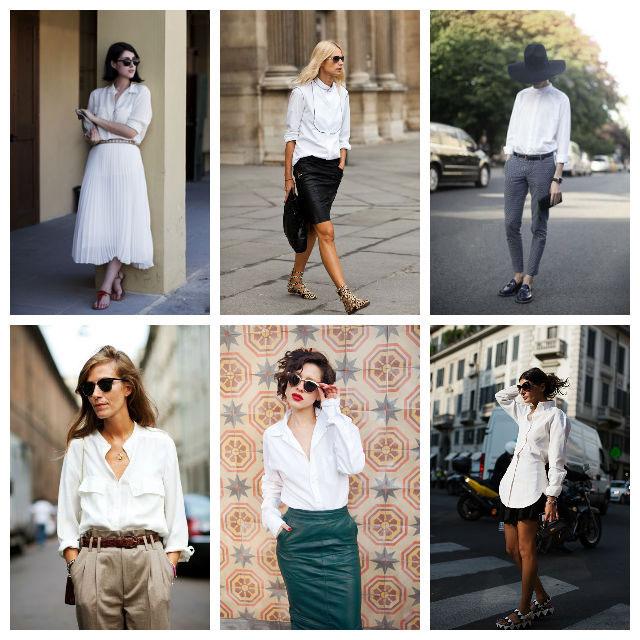 С чем сочетать белую рубашку