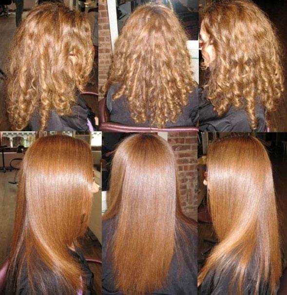 Волосы выпрямить