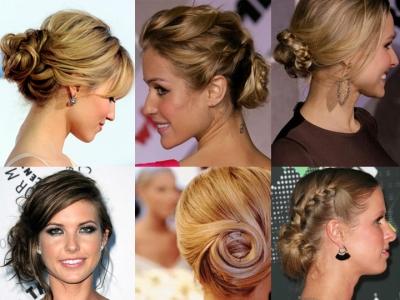 Как сделать из волос средней длины пучок
