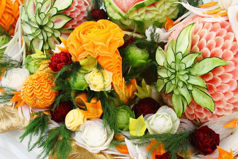 Украшения для стола своими руками из овощей