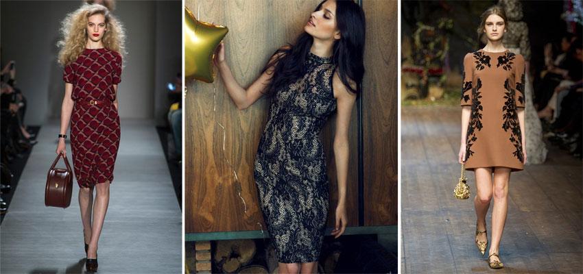 cc1fa8b5593 Осенний тренд  Мода на платья осенью 2014