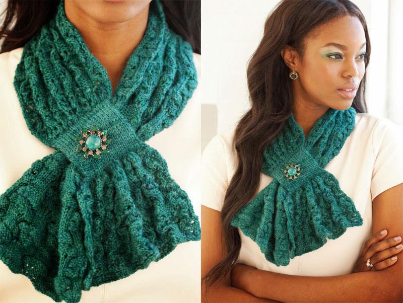 Вязание необычного шарфа 84