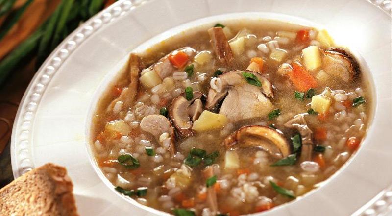 рецепт приготовления грибного супа с перловкой