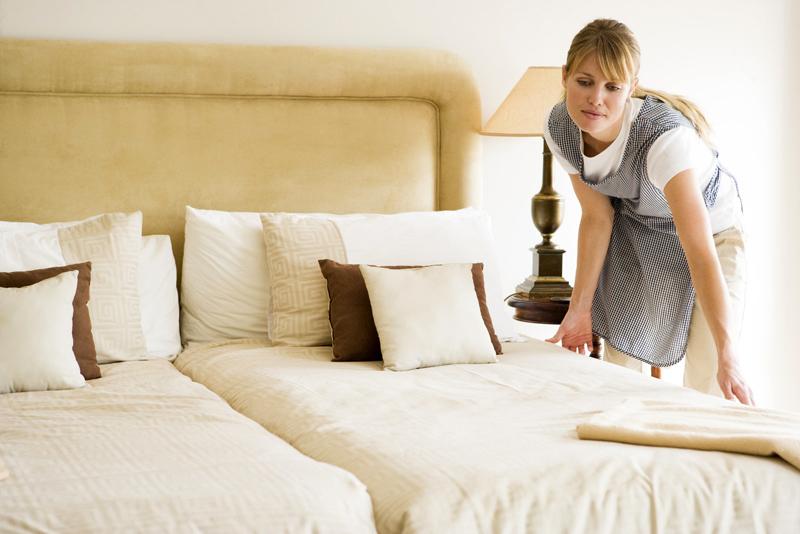 Красивая хозяйка дома и уборщица — img 10