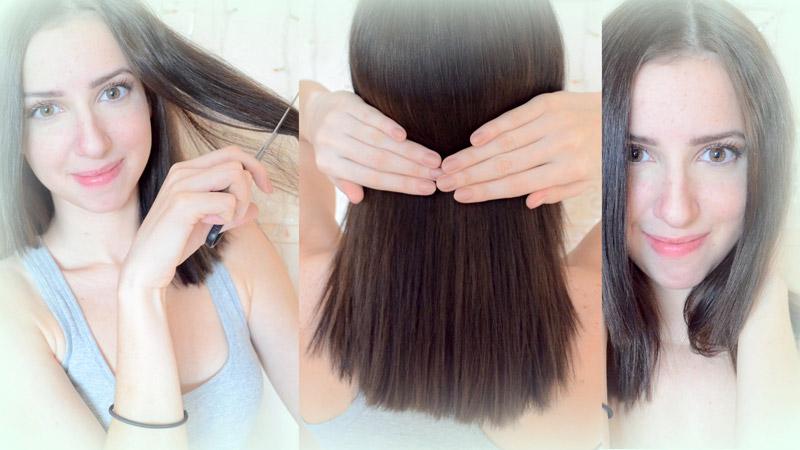 Как подравнять волосы самой