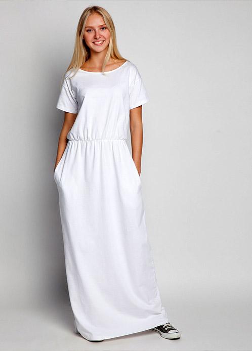 Длинное прямое платье на каждый день
