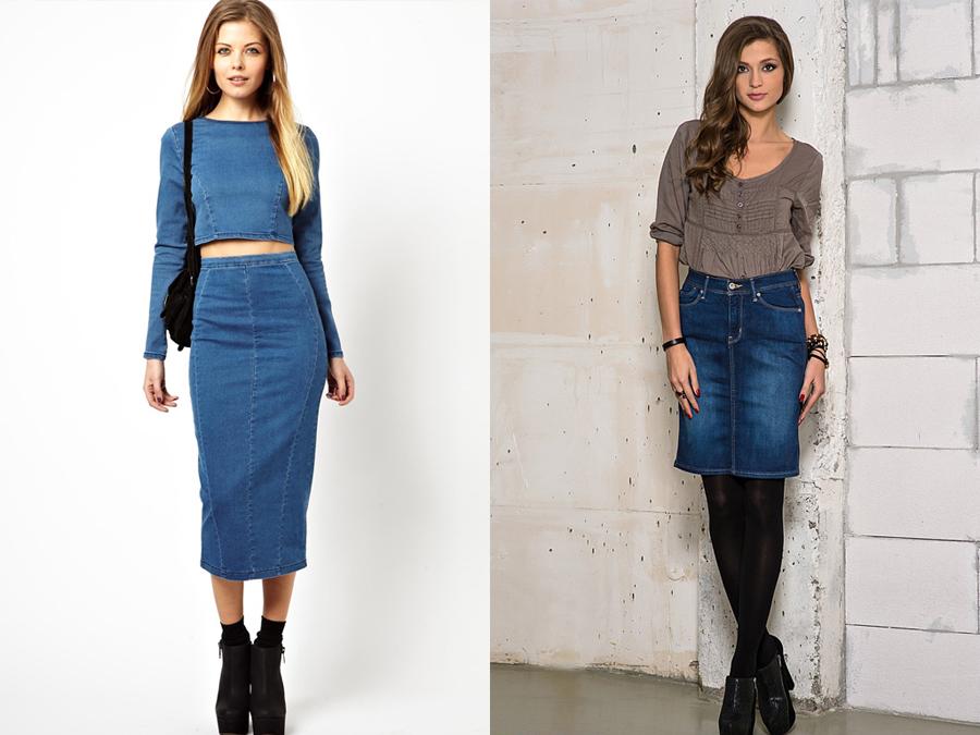 Как выбирать джинсовую юбку