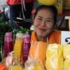 Фрукты и другая тайская еда в Бангкоке по принципам правильного питания