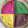 Необычная Масленица: Цветные блины и торт из блинов с зеленым чаем!