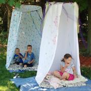 Дачное ноу-хау: Как сделать шалаш для ребенка?